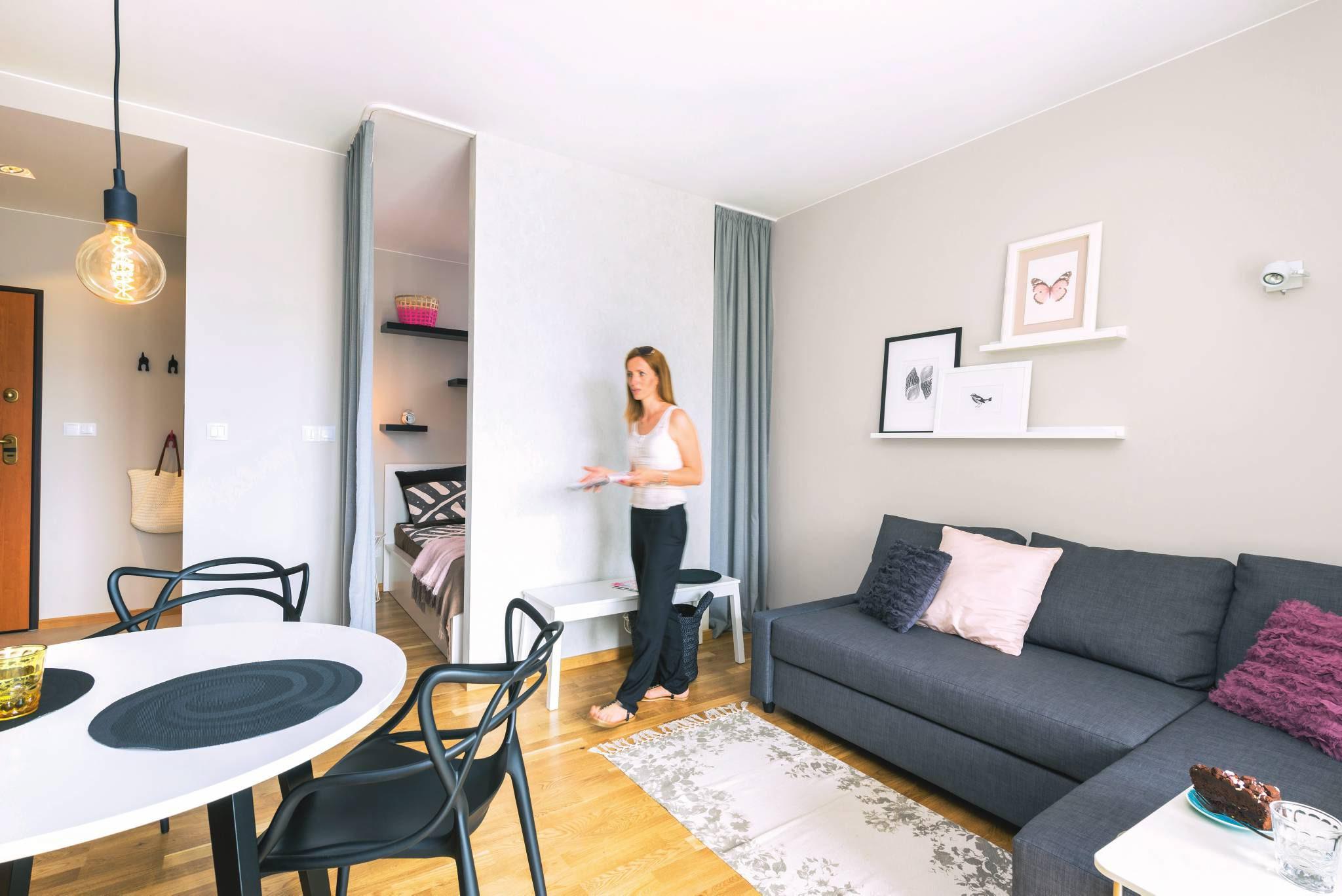 35 Metrowe Mieszkanie Udało Się Wydzielić Osobną Sypialnię